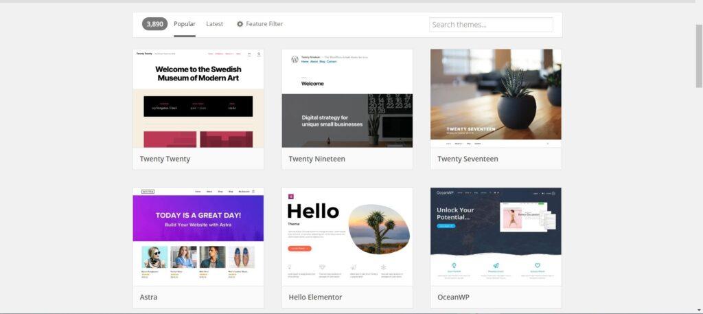 נקודת ההתחלה של בניית אתר וורדפרס: אלפי תבניות לשימוש